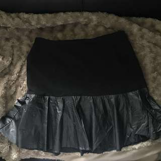 HnM mermaid skirt black 黑色短裙魚尾擺