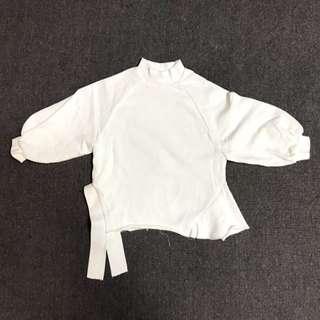 韓國 女童 白色 上衣 衛衣 新款 2018