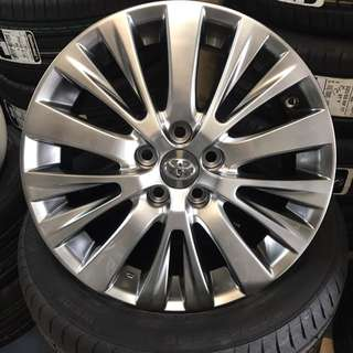 "USED VELLFIRE original 18"" wheels"
