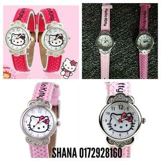 Stylish Hello Kitty Diamond Belt Watch For Girl