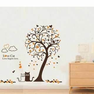 Love Cat Wall Decal Sticker