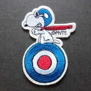 Snoopy Pilot Red Baron Iron On Patch
