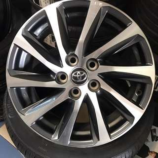 "USED original 17"" TOYOTA VELLFIRE wheels"