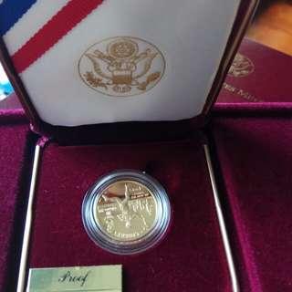 1995 美国亞特蘭大奧運纪念5圓金幣