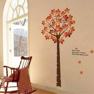Tree Double Sheets Wall Decal Sticker