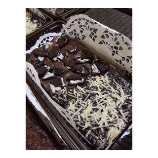 Brownies panggang oreo keju