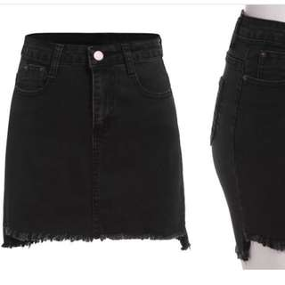 Brand new* Black denim skirt