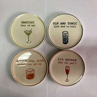 Pottery Barn set of 4 coasters