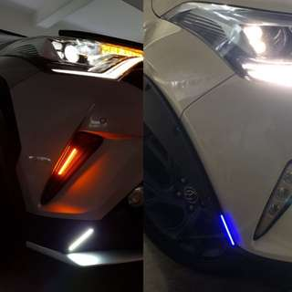 DRL LED COB Car (White/Blue)