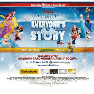 Disney On Ice Cat 1 Tickets for 18 March 6.30pm