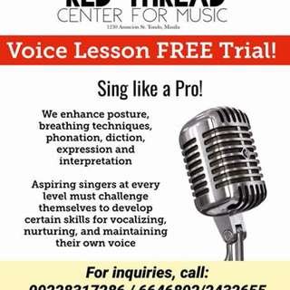 Voice Lesson for Hire