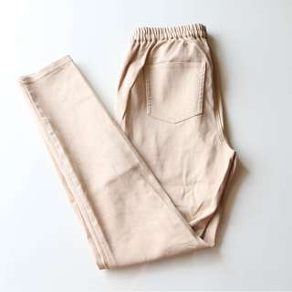 GU Denim Skinny Jeans in Light Brown