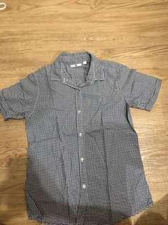 Uniqlo checkered polo shirt