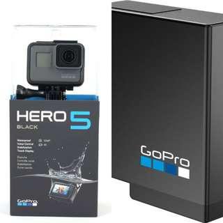 GoPro Hero 5 Black with GoPro battery
