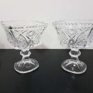 Cut glass standing bowl