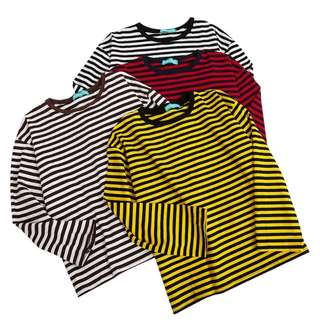basic loose oversized stripes pullover | PO