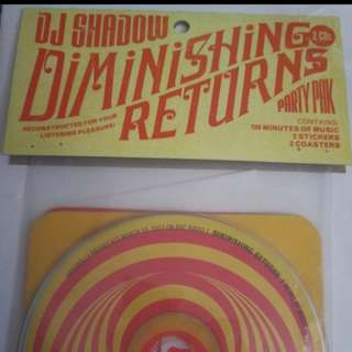 Dj Shadow - Diminishing Returns, Party pack. 2 cd