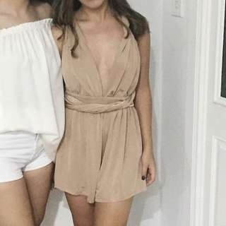 TAUPE MULTIWAY JUMPSUIT