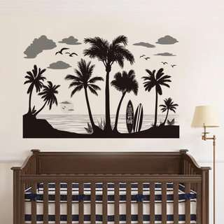 Coconut Trees Wall Decal Sticker
