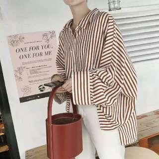 寬松oversize長袖衬衫 外套