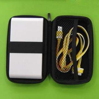 Instock Protective Powerbank Usb Cables Organizer Case Mp3 Player Earpiece External Battery Hard Disk HDD Zipper Hardcase
