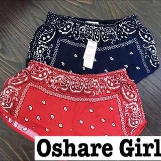 OshareGirl 07 歐美幾何圖騰小短褲 summer free