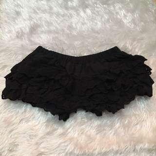 Black Lace Short Pant