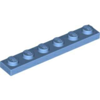 全新 Lego 3666 Medium Blue Plate 1x6 {10件} (包平郵)