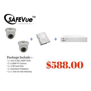 CCTV 2 x 1080P IP Cameras Package