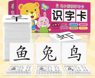 Chinese Flash Cards - Recongise Words 认字卡 Brand New