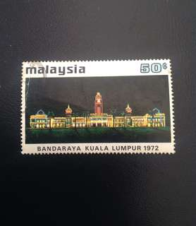 Malaysia 1972 City Status for KL 50c Used SG99 (0320)