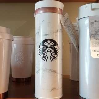 Starbucks marble tumbler x2