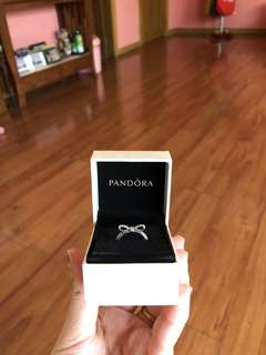 AUTHENTIC Pandora Delicate Bow Ring