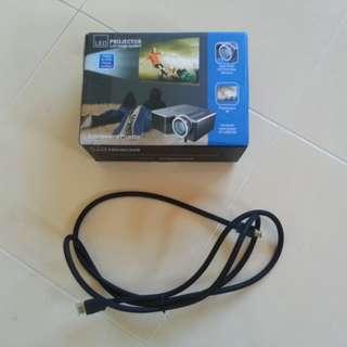 Mini Entertainment Projector Free HDMI Cable