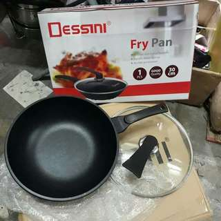 Fry Pan Good Quality Wajan Anti Lengket 30Cm Wok Pan Dessini