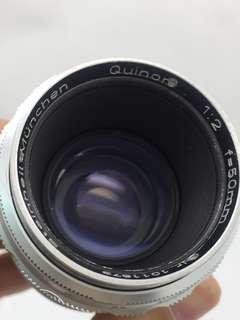 Steinheil 50mm F2 Quinon Leica M mount