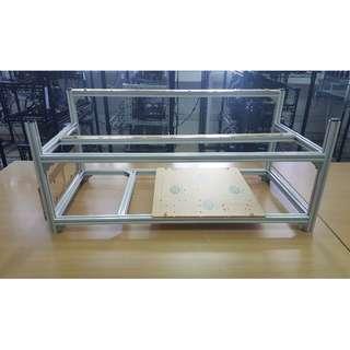 GPU Mining Rig Aluminium Frame Open Air (8 GPU)
