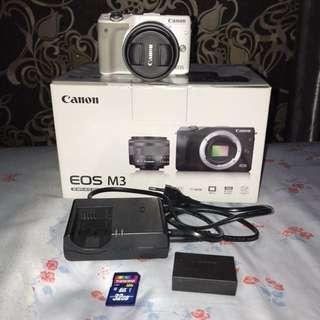 Canon EOS M3 White Mirrorless Kit