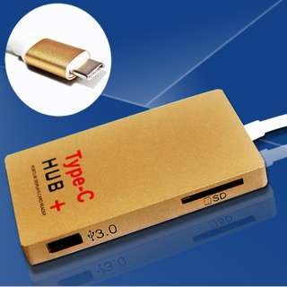 Type-C HUB+ - USB 3.1 - Card Reader - HDMI 4K Output - S1403