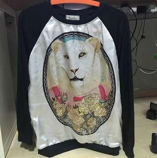 Better Lion Silk pullover sweatshirt