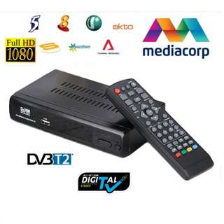 BRAND NEW 2018 IMPROVED MODEL! DVB-T2 Mediacorp Digital Receiver HD DVB T2 Set Top TV Box