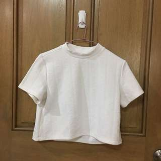 Mock neck cropped top H&M