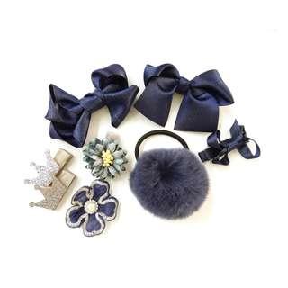 Blossom 28 Baby Hair Clip Set Blue BHB005