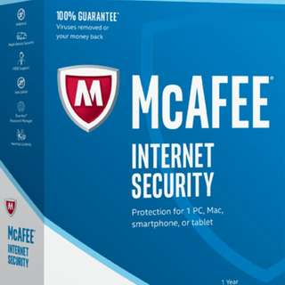 Mcafee antivirus with Internet security (physical card )