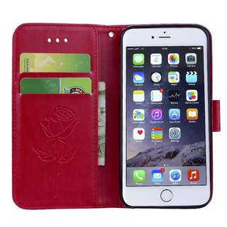 Flip Cover Leather Case for Iphone 6plus/6splus Red