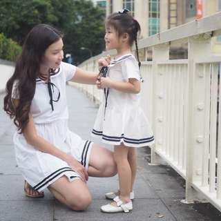 ☑️ INSTOCKS 3-15Y Girls White Nautical Dress G220A (Mother sizes available)