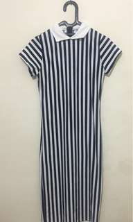 Dress stripes bodycon