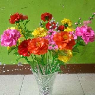 Macam2 bunga handmade bahan acrylic