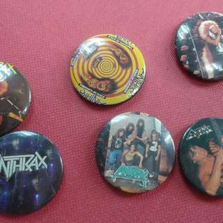 Anthrax Vintage button badge.