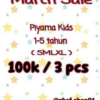 Piyama Anak March Sale